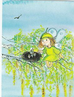 Virpi Pekkala Art And Illustration, Doll Eyes, Fairy Dust, Whimsical Art, Vintage Cards, Designs To Draw, Painting & Drawing, Fairies, Scandinavian