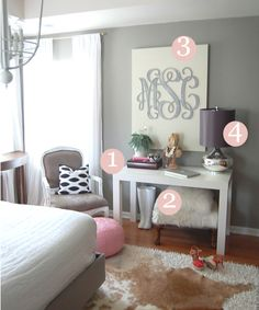 more of the lovely room plus how to shop for various home furnishings online (esp One Kings Lane).