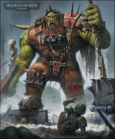 Ork Warboss, Roman Tishenin on ArtStation at https://www.artstation.com/artwork/PkyJ1