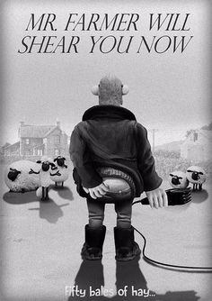 ShaunLeMouton- plusieurs affiches de films célèbres ont été détournées par le mouton british.