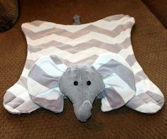 Grey elephant minky