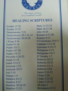 Healing scriptures used by Dodie Osteen when they diagnosed her with cancer decades ago. She is still alive and still reads these daily.
