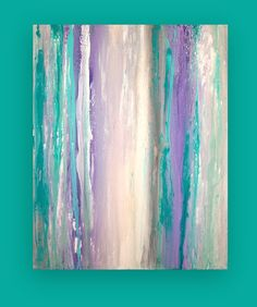 Sale Take 20 Off Turquoise and Purple Original by OraBirenbaumArt