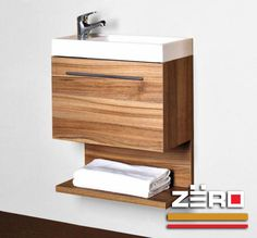 Baños :: ZËRO Small Bathroom Furniture, Bathroom Vanity Storage, Small Bathroom Vanities, Tiny Bathrooms, Bathroom Toilets, Single Bathroom Vanity, Washroom Design, Bathroom Design Luxury, Wooden Table Diy