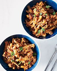 Creamy lamb ragu with delicious Greek flavors; it's a total crowd-pleaser and a nice alternative to more common Italian pasta dishes.