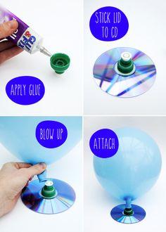 Kids craft: Make a balloon hovercraft!