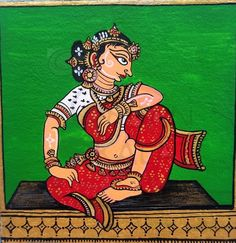 Traditional Art, Colorful Art, Madhubani Art, Ganesha Art, Mini Canvas Art, Madhubani Painting, Painting Art Projects, Rajasthani Art, Kalamkari Painting