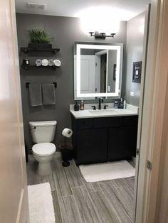 Bathroom Decor Discover 35 Beautiful Gray Bathroom Ideas with Stylish Color Combinations Unique gray and brown bathroom color ideas Man Bathroom, Bathroom Renos, Bathroom Flooring, Bathroom Renovations, Bathroom Grey, Small Grey Bathrooms, Colors For Small Bathroom, Teen Boy Bathroom, Modern Bathroom Decor