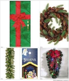 Include wreathes festive covers for your front door christmas door