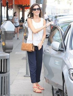 Out and about: Camilla Belle, who was spotted in Beverly Hills on Monday, has revealed that she will never date a co-star on set in thecover interview for Hello! Fashion's November issue