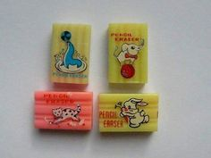 Those erasers smelled good! My Childhood Memories, Sweet Memories, Nostalgia, Old Sweets, Good Old Times, Pencil Eraser, 90s Kids, My Memory, Retro Vintage