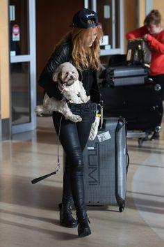 Bella Thorne at Victoria Island Airport