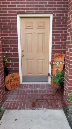 Harvest blessings and pumpkin pallet sign