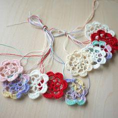 Flower crochet embellishments