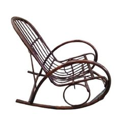 Vintage Boho rattan bamboo rocking chair Dimensions: Overall height 90 cm Seat height ca. 40 cm Width 57,5 cm