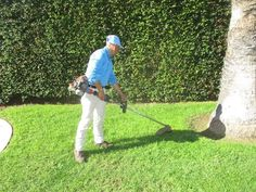 Edge your lawn for a clean tidy style. Garden Maintenance, Santa Barbara, Outdoor Power Equipment, Lawn, Cleaning, Style, Swag, Yard Maintenance, Home Cleaning
