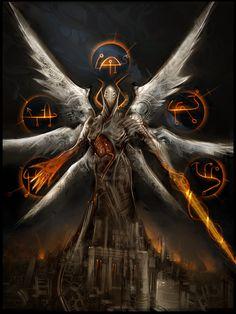 android demon, great hellfire Mount Margra