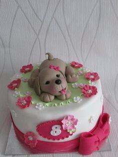 Dětské dorty - Úžasné dorty - Markéta Sukupová Puppy Birthday Cakes, Sweet Birthday Cake, Birthday Cake Girls, Puppy Dog Cakes, Medical Cake, Cake Design Inspiration, Creative Cake Decorating, Farm Cake, Baby Girl Cakes