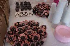 Resultado de imagem para decoracao de festa infantil rosa e marrom