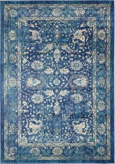 Navy Blue Stockholm Area Rug This one is my favorite because it pulls in brown and gray