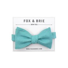 Teal Microcheck bow tie by FoxandBrie on Etsy, $45.00