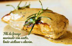 Filé de frango marinado com azeite, limão siciliano e alecrim - Receitas - Constance Zahn | Open House