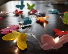 Luz De Fada Borboletas Coloridas