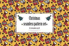 Christmass pattern set by Rinrinnn on @creativemarket