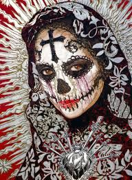 R sultat de recherche d 39 images pour santa muerte catrina dessin santa muerte pinterest - Santa muerte tatouage signification ...