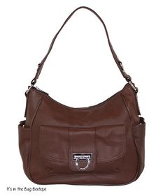 Roma Leathers - Concealed Carry Purse - Twist Lock Hobo - Leather (Brown)