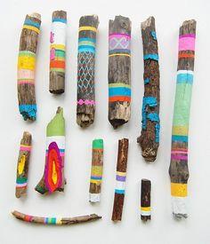 Painting Sticks - good outdoor fun found on Brisbane Kids via Be a Fun Mum