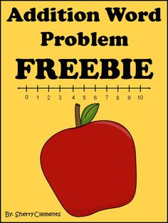 Addition Word Problem FREEBIE! Includes drawing, number line, ten frame, and equation.