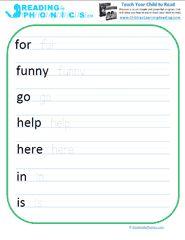 pre primer sight words worksheets pdf