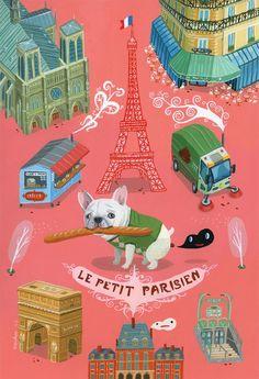 """""""Petit Parisien"""" print by Aaron Meshon (popandpais @ etsy) $90"""