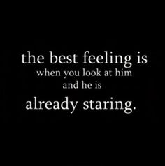 The best feeling...