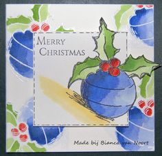 Aren't these beautiful Christmas ornaments!    Jolies boules de Noël!  *****     Produits Magenta utilisés:     Magenta products use...