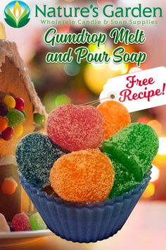 Free Gumdrop Soap Recipe by Natures Garden.