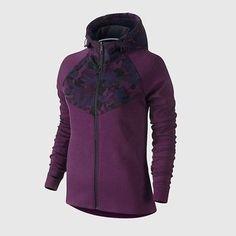 NWT Nike Women's Tech Fleece Full-Zip Print Hoodie Purple/Camo 685491-563 SZ XS Clothing, Shoes & Accessories:Women's Clothing:Coats & Jackets #nike #jordan #shoes houseofnike.com $73.10