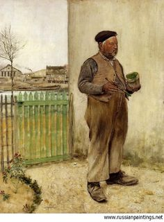 Man Having Just Painted His Fence / Artist:Jean Francois Raffaelli European Art, Cool Artwork, Fine Art, French Art, Painter, Art Auction, Painting, Art, Canvas Art