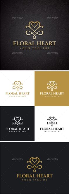 Floral Heart Logo Template #design #logotype Download: http://graphicriver.net/item/floral-heart/12811623?ref=ksioks