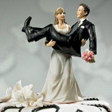 Een bruid met spierballen! Super originele taart topper