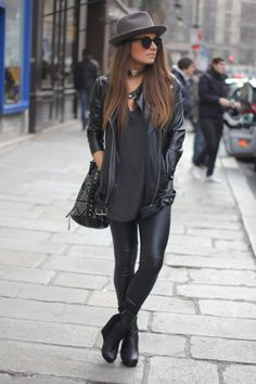 All black outfit.  I love everything but the hat; however, the rest is quintessential me.