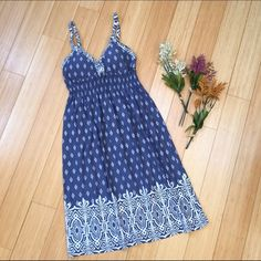 Athleta sundress, sz small. Beautiful blue sundress by Athleta. Intentionally a little faded looking.  Super sweet. Athleta Dresses Midi