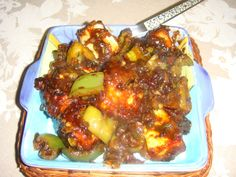 Chilli Paneer Chilli Paneer, Cottage Cheese, Vegetable Dishes, Chili, Beef, Indian, Vegetables, Healthy, Ethnic Recipes