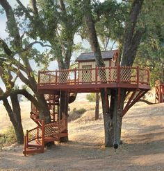 Barbara Butler-Extraordinary Play Structures for Kids-Coyote Valley Treehouse…