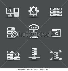 Server computer & database icons,vector by mamanamsai, via Shutterstock