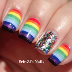 Rainbow nails  @Erin B B B Zeiler