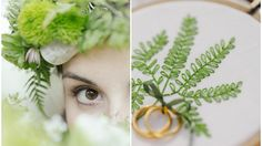 stitch your fern ringpillow now with this cute and easy stitch kit. So beautiful for a natural Vintage Wedding.