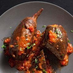 Lebanese Style Stuffed Eggplant Recipe | Epicurious.com