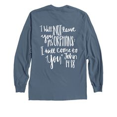 """Mission Trip Fundraiser. Adoption Fundraiser. """"I will not leave you as orphans. I will come to you"""". Easy Fundraising ideas."""
